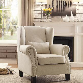 Awesome 1245F2S Clf Hom Eleg Cozy Living Furniture Mississauga Bralicious Painted Fabric Chair Ideas Braliciousco